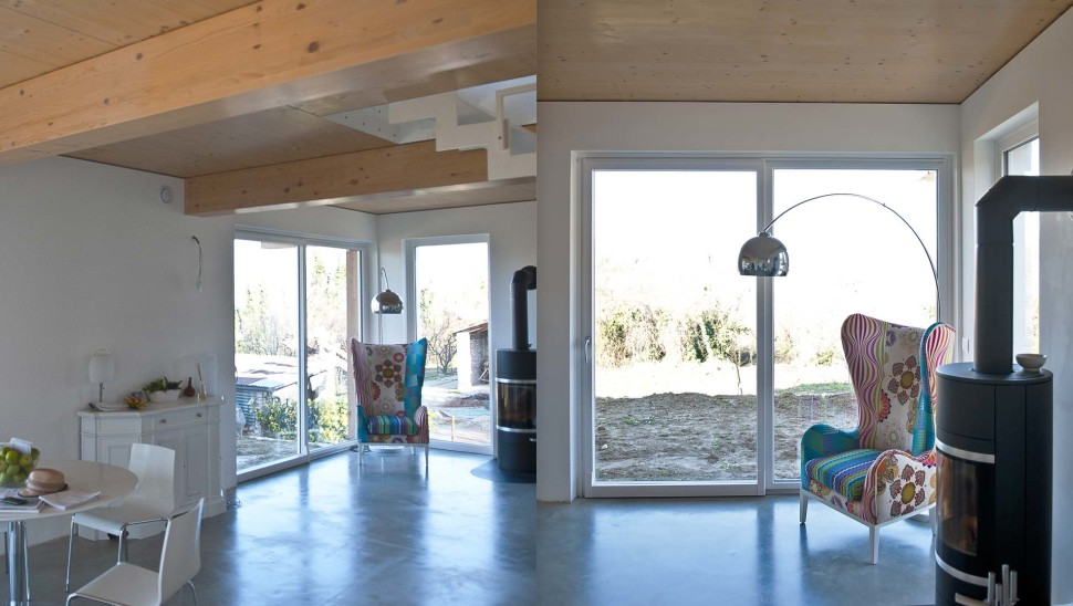 Casa indipendente in legno bbs a due piani a cherasco for Piani di casa con foto interne