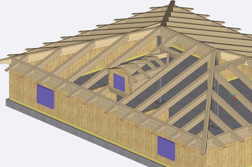 Progetto esecutivo di una costruzione in legno x-lam BBS modellazione 3D CAD