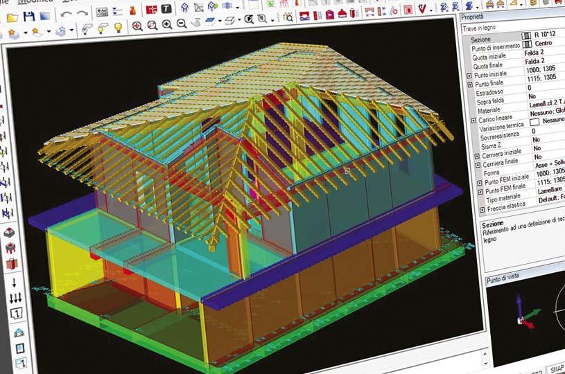 Calcolo strutturale di una costruzione in legno x-lam BBS