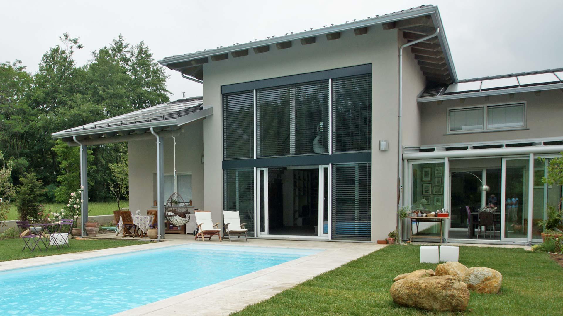 villa in legno bbs monofamiliare a due piani a giaveno