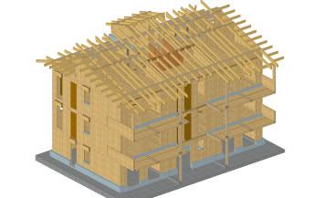 Palazzine legno xlam a Fossano, Flavia