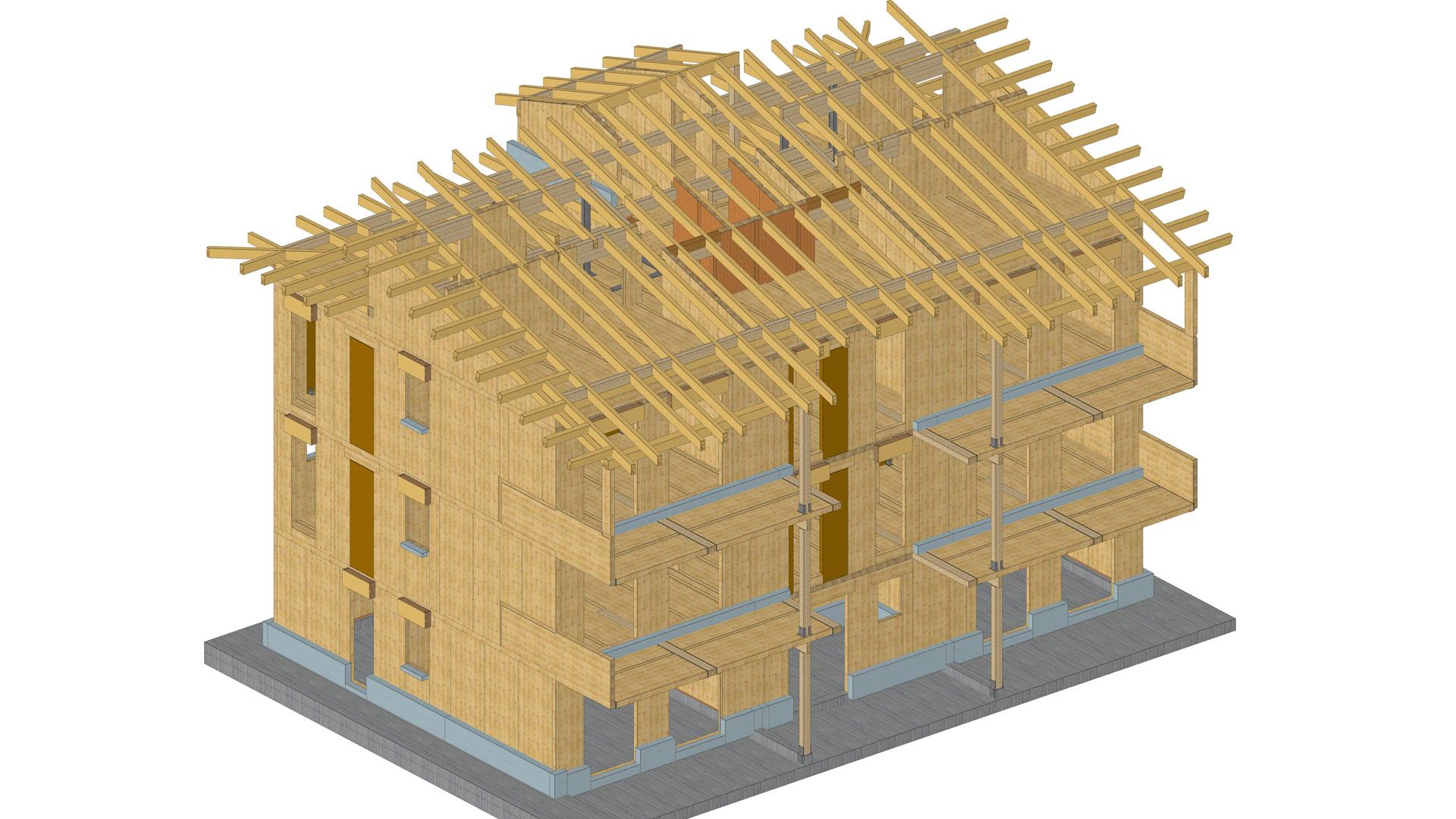 Palazzine legno xlam a fossano cuneo cohousing sociale for Case legno xlam