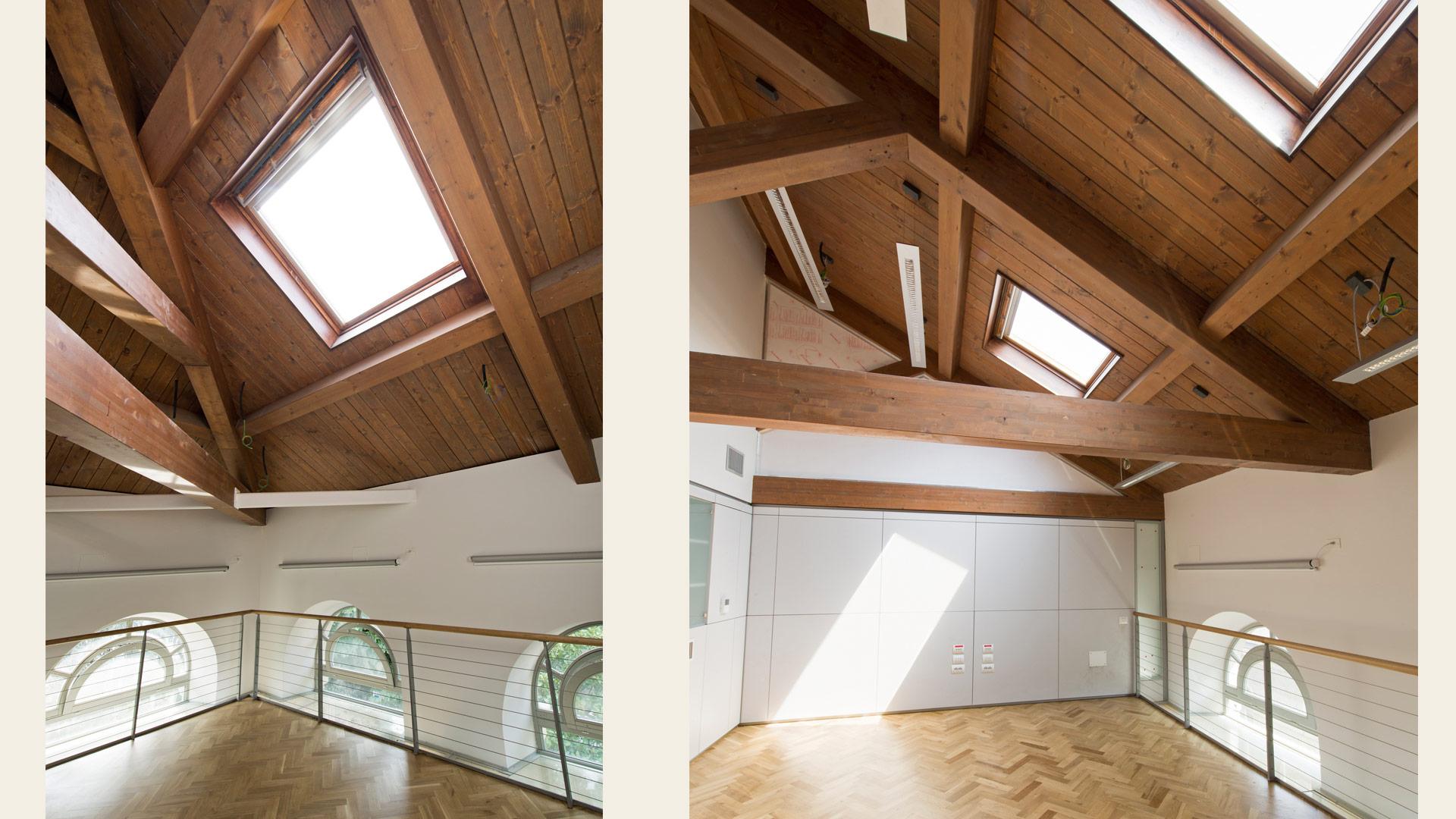 Tetto legno lamellare di abete per uffici politecnico milano - Tetto in legno interno ...